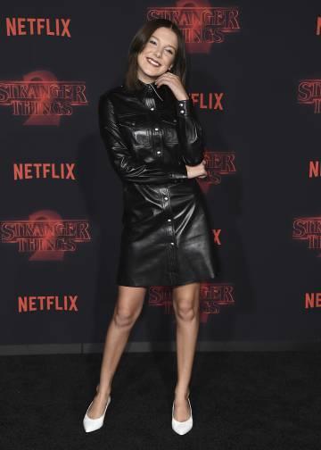 La actriz Millie Bobby Brow en la presentación de 'Stranger things' el pasado 26 de octubre en Los Ángeles.