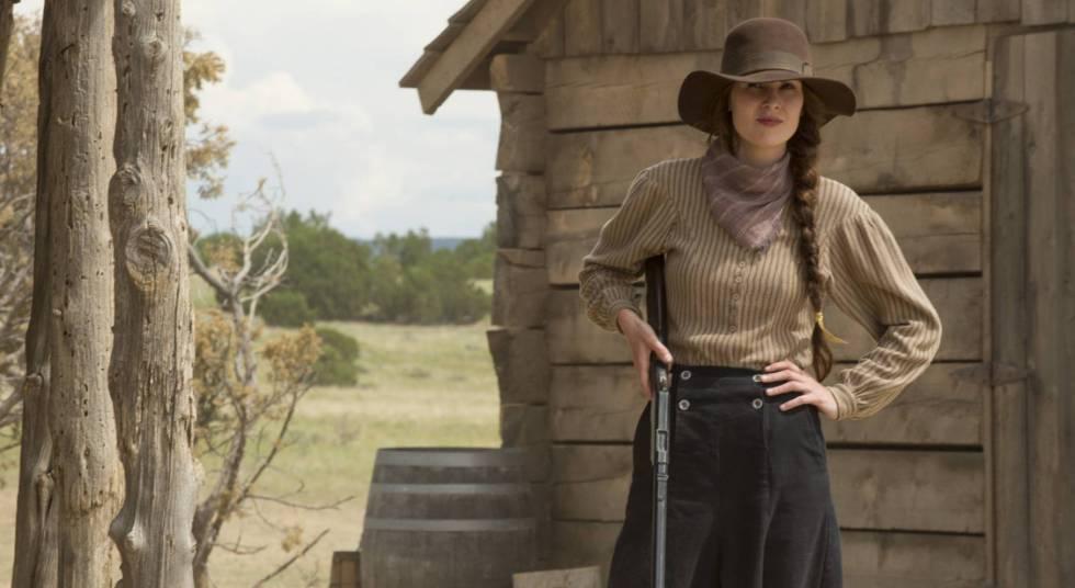 Miehelle Dockery, caracterizada para la miniserie 'Godless'.