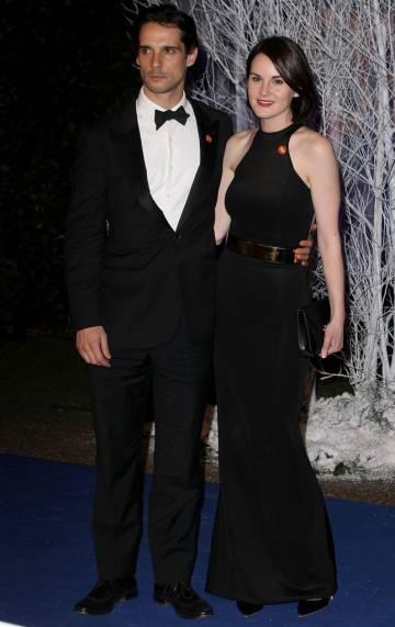 La actriz Michelle Dockery y su novio, John Dineen, en Londres en 2013.