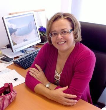 Rosa Menéndez, en su oficina del Instituto Nacional del Carbón, en una foto de archivo.