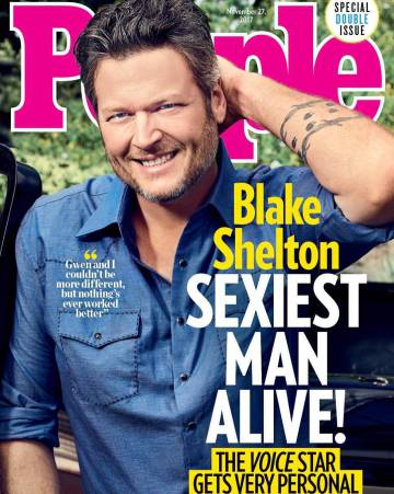 Portada de la revista 'People' con Blake Shelton elegido como el hombre más sexy del año.
