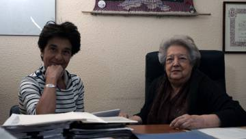 Charo Nogueira y Ana María Pérez del Campo.