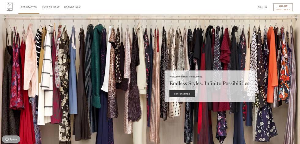 43af45d0741 Imagen de la web de la empresa de suscripción de ropa Rent the Runway.