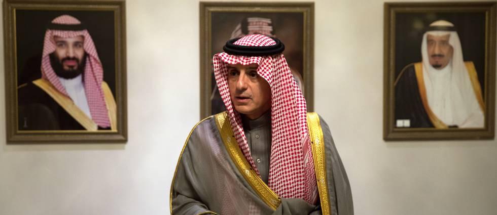 El ministro saudí de Exteriores, Adel al-Jubeir, en Madrid.