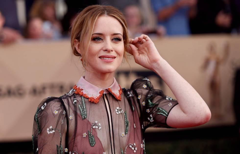 La intérprete Claire Foy, en los Screen Actors Guild Awards celebrados en Los Ángeles en enero.