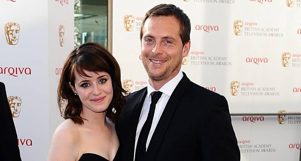 Claire Foy y su marido, el actor Stephen Campbell Moore, en unos premios en mayo de 2012.