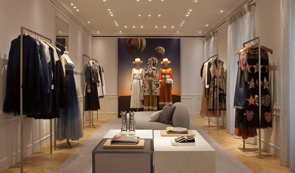 Interior de la nueva tienda de Dior en Madrid.