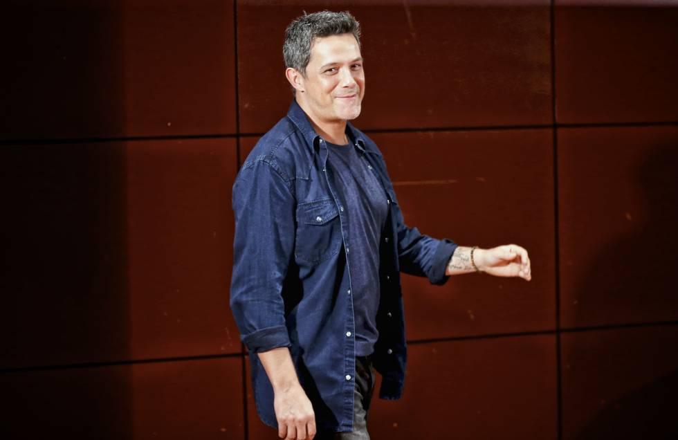El cantante Alejandro Sanz .