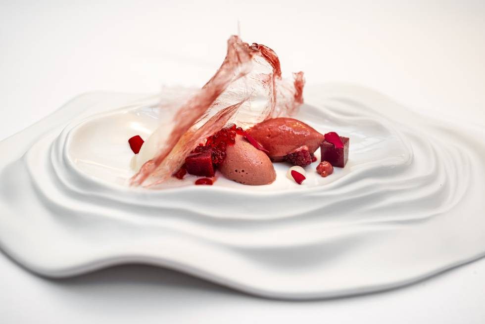 The 'La Vie en Rose' dessert of Lucía Freitas.