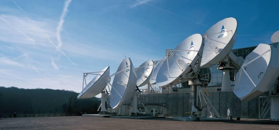 Campo de antenas de la Sociedad Europea de Satélites en Luxemburgo