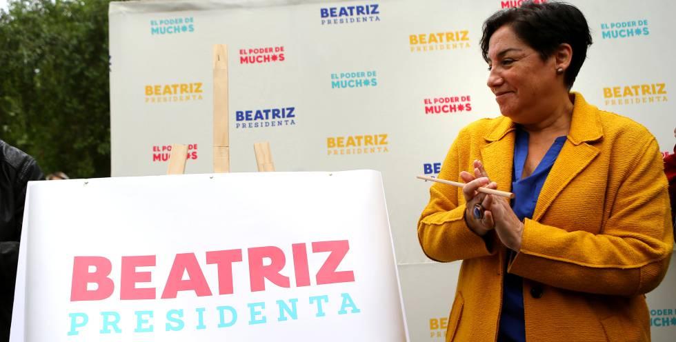 Beatriz Sánchez, candidata a la presidencia de Chile por el Frente Amplio