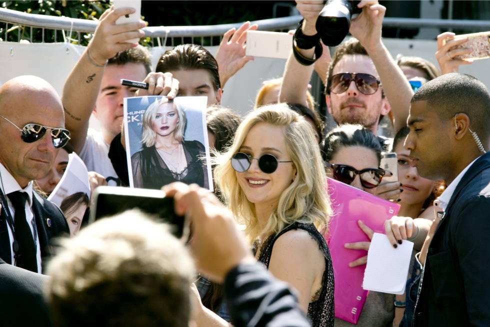 La actriz Jennifer Lawrence en el Festival de Cine de Venecia el pasado 5 de septiembre.