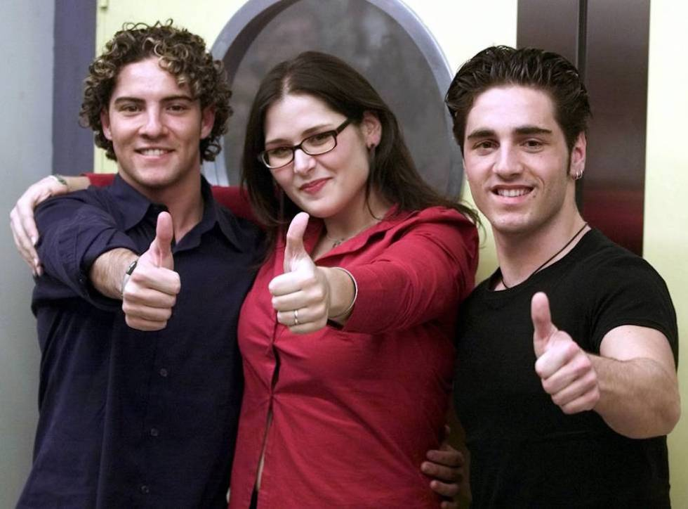 David Bisbal, Rosa López y David Bustamante.