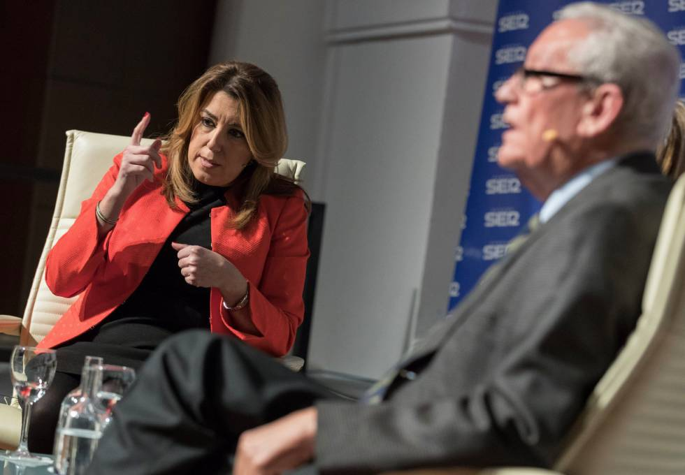 Andalusia's regional premier Susana Díaz during a debate about Spain's regional financing system.