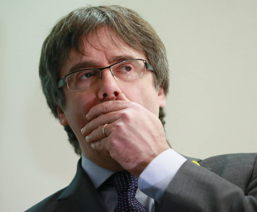 Carles Puigdemont in Brussels on Wednesday.