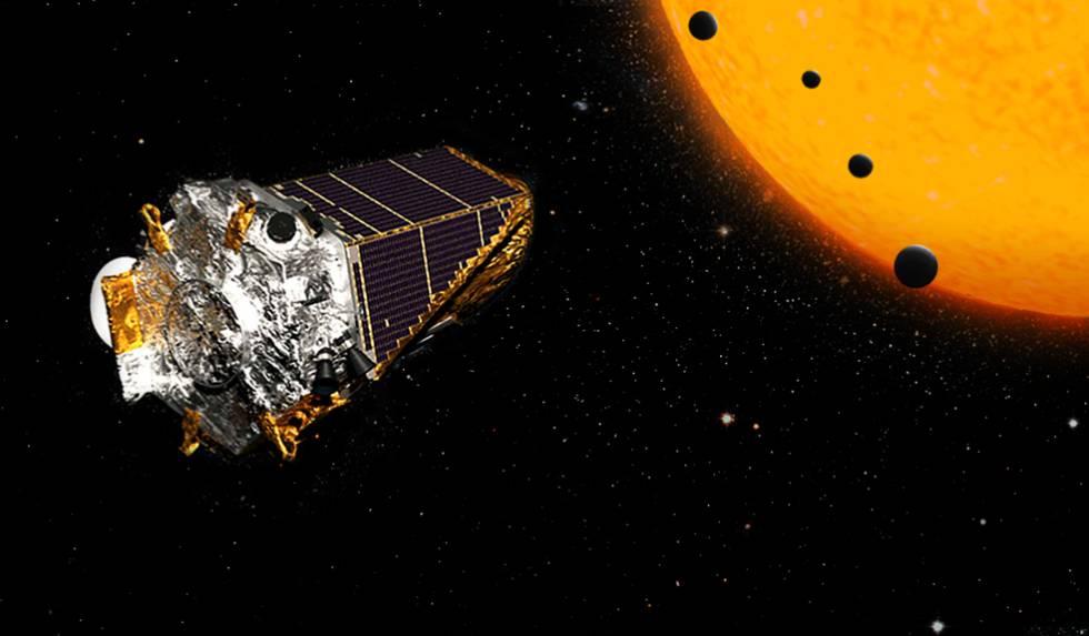 Ilustración del telescopio 'Kepler' de la NASA.rn rn
