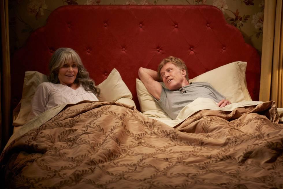 Jane Fonda e Robert Redford em uma cena de seu último filme 'Nossas Noites'.