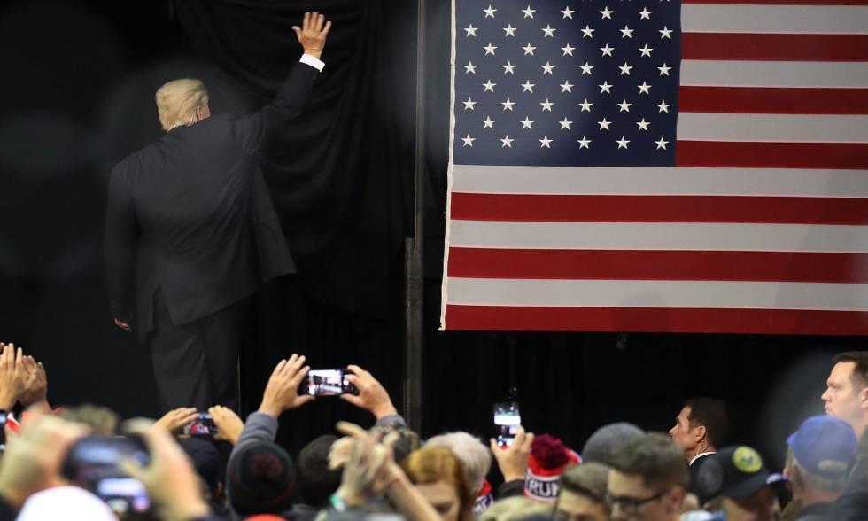 El presidente de EE UU, Donald Trump, durante un mitin en Pensacola (Florida), el pasado 8 de diciembre.