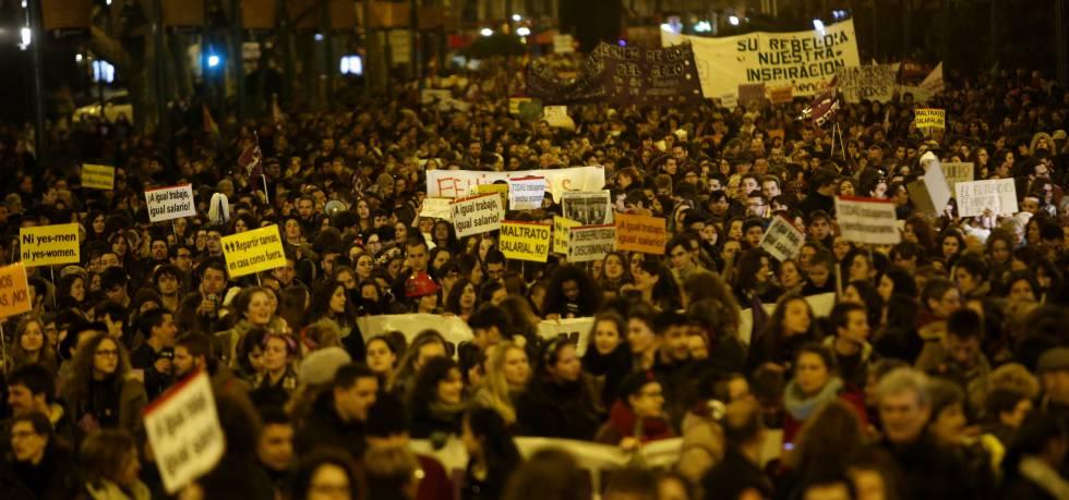 Manifestación por el Día Internacional de la Mujer, el 8 de marzo de 2016.