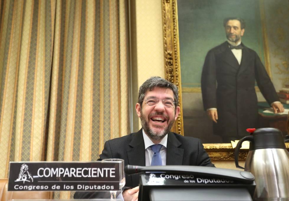 Alberto Nadal, secretario de Estado de Presupuestos, comparece ante la Comisión de Seguimiento y Evaluación de los Pactos de Toledo del Congreso de los Diputados