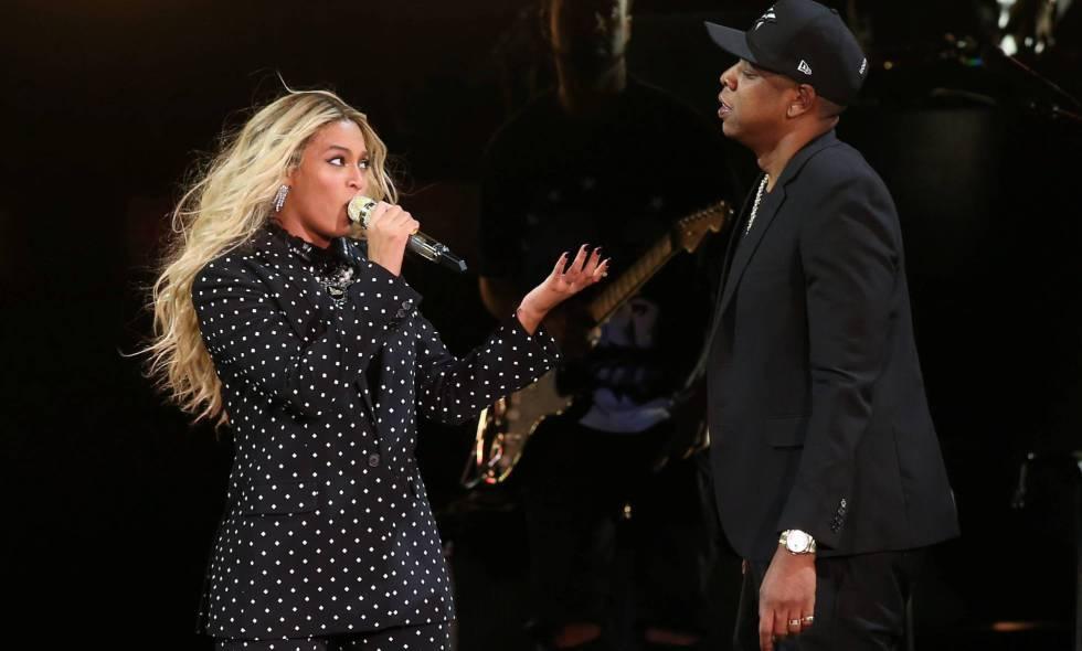 Beyoncé y Jay-Z, en una actuación en noviembre de 2016.