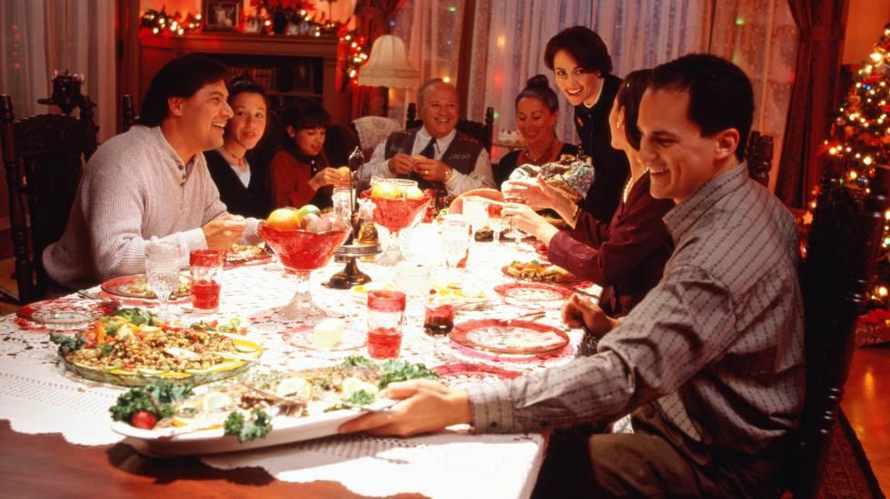 Reunión familiar en las fiestas navideñas.