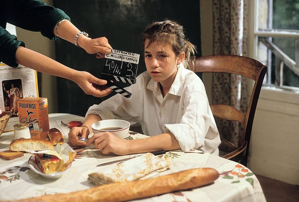 Charlotte no filme que a transformou em uma estrela adolescente, 'L'effrontée' (1985).