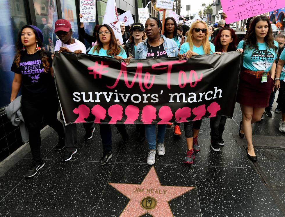 Mujeres en protesta contra el acoso sexual.rn