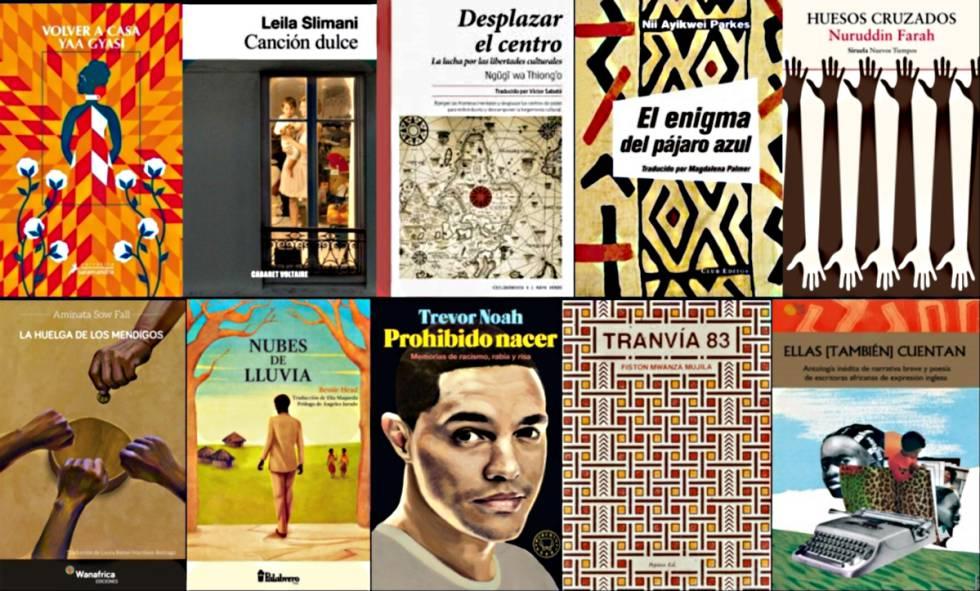 Capas dos 10 livros africanos mais destacados de 2017.