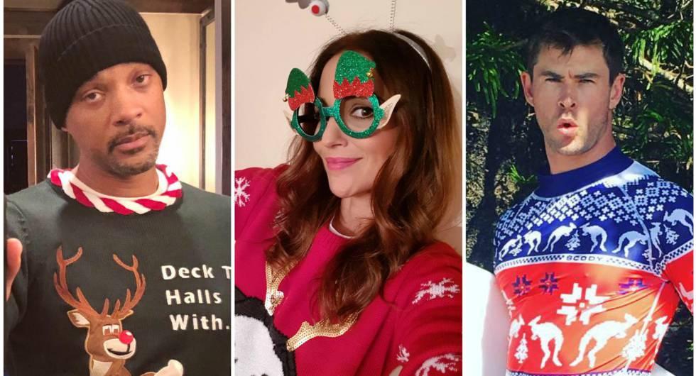 Fotos De Hombres Felicitando La Navidad.Fotos Asi Han Celebrado Los Famosos La Navidad Gente Y