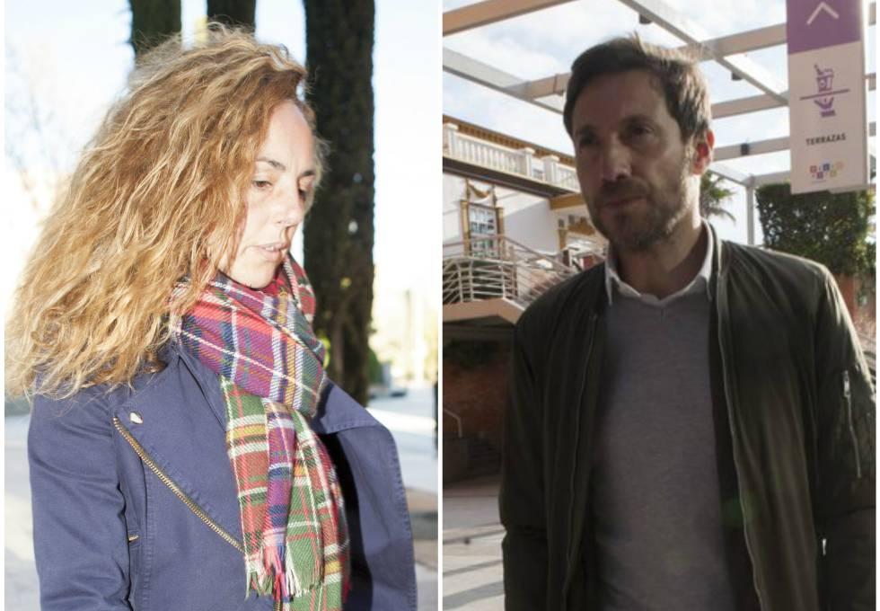 Rocío Carrasco y Antonio David Flores en una de sus últimas visitas a los juzgados de Alcobendas, en Madrid.