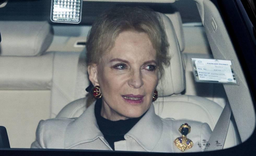 La princesa de Kent llegando al almuerzo de Navidad de la Reina en el palacio de Buckingham el pasado día 20. MARK CUTHBERT GETTY