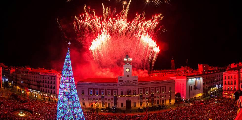 Celebración del Año Nuevo en la Puerta del Sol
