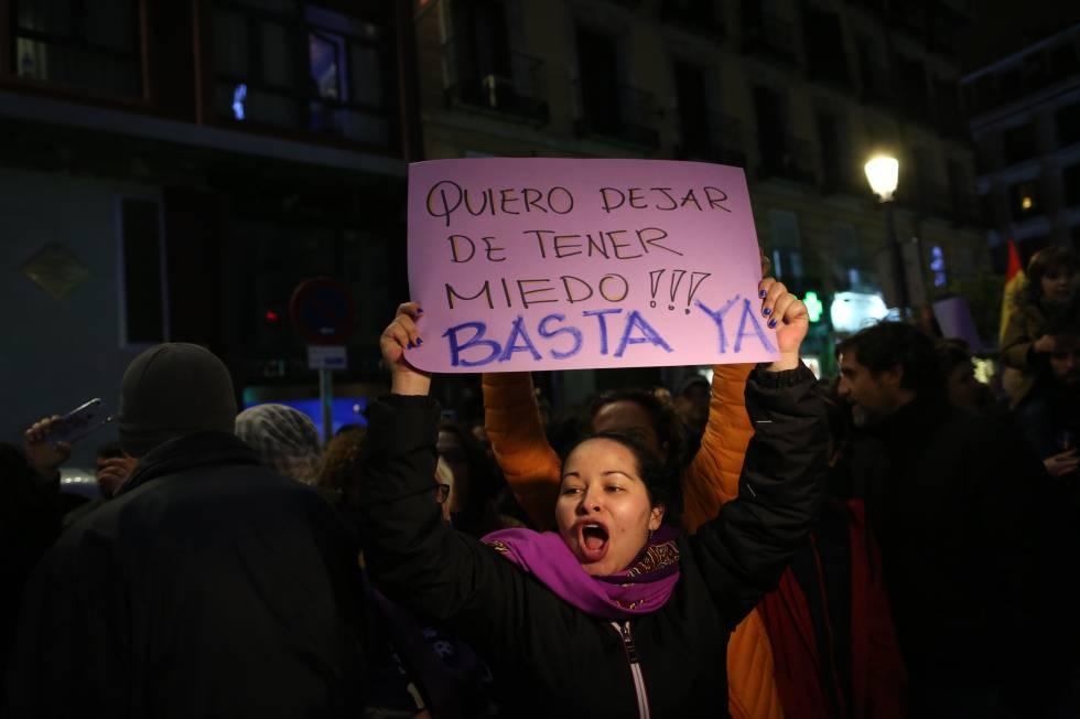 Manifestación contra la violencia machista en Madrid.