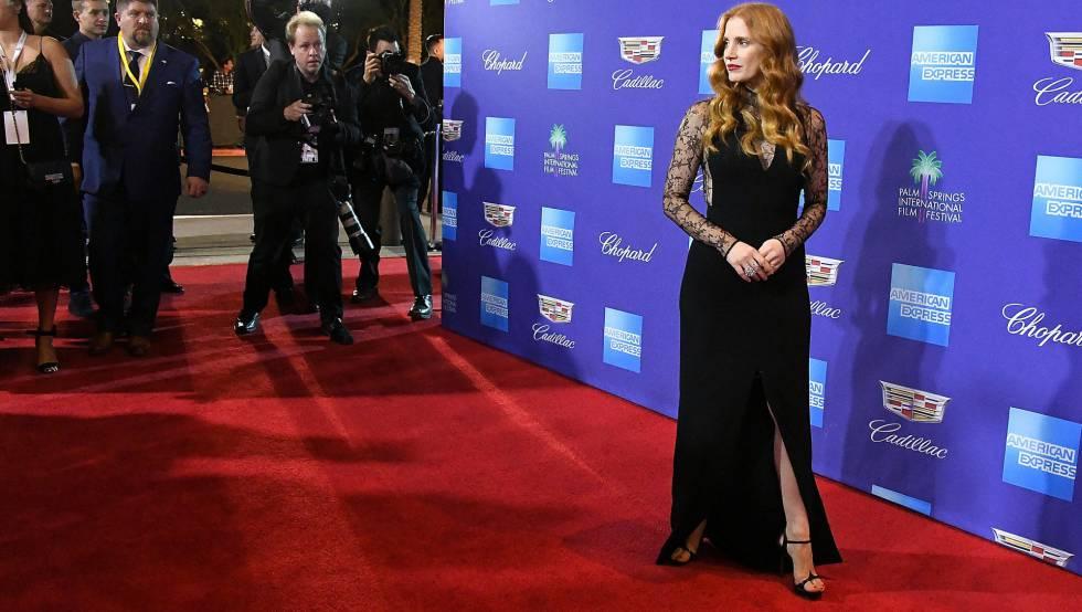 Jessica Chastain, en el festival de cine de Palm Springs.
