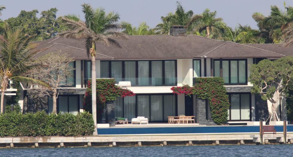 La casa de Enrique Iglesias y Anna Kournikova en Miami.