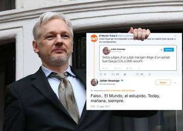 Julian Assange falls for satirical story from Spanish website El Mundo Today
