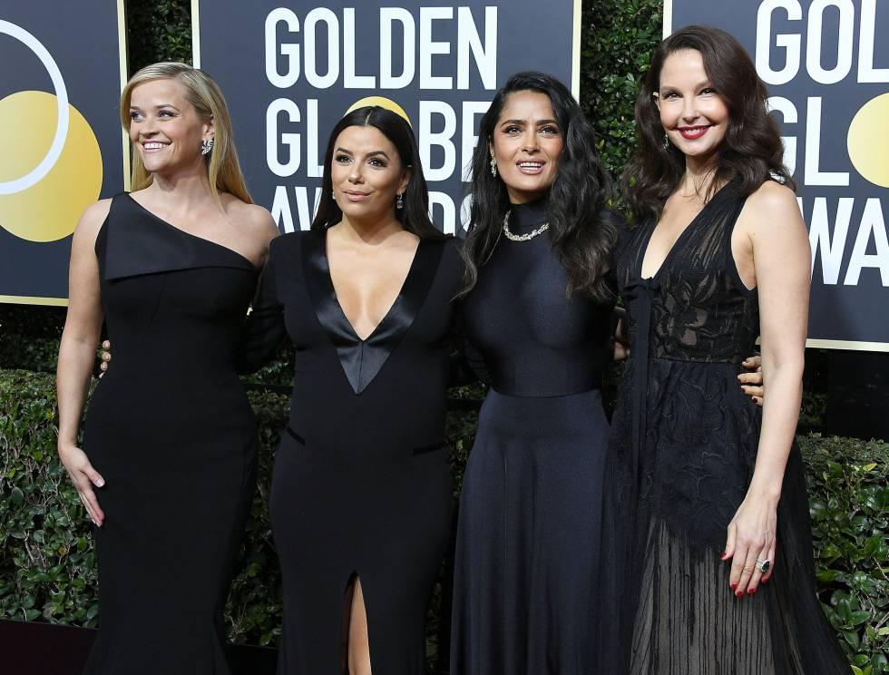 Gala de los Globos de Oro en la que las mujeres se vistieron de negro para denunciar las agresiones sexuales en el mundo del cine.