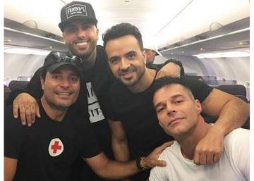 Ricky Martin, Luis Fonsi, Chayanne y Nicky Jam aterrizan en Puerto Rico