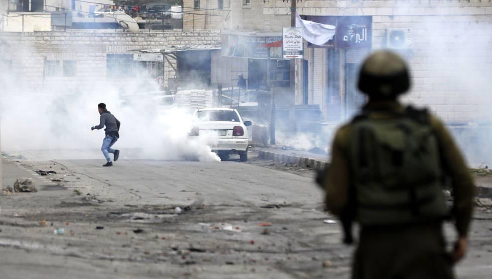 Enfrentamientos recientes en Hebrón.