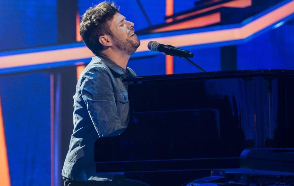 El cantante Pablo López durante el programa 'Operación Triunfo' el pasado lunes.