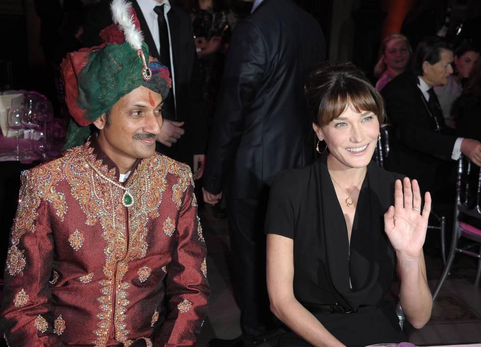 Manvendra Singh Gohil y Carla Bruni.