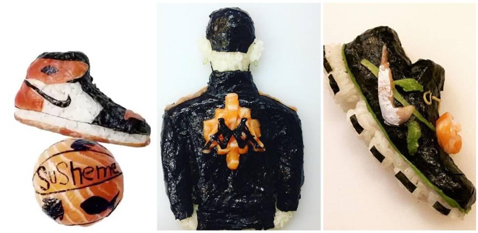 Fotos: Zapatillas y ropa de salmón y arroz: así es el sushi ...