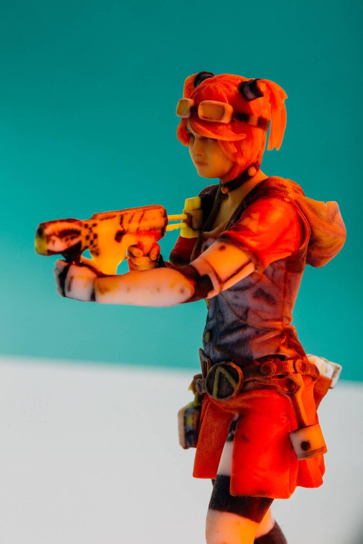 Figura de una guerrera impresa en 3D.