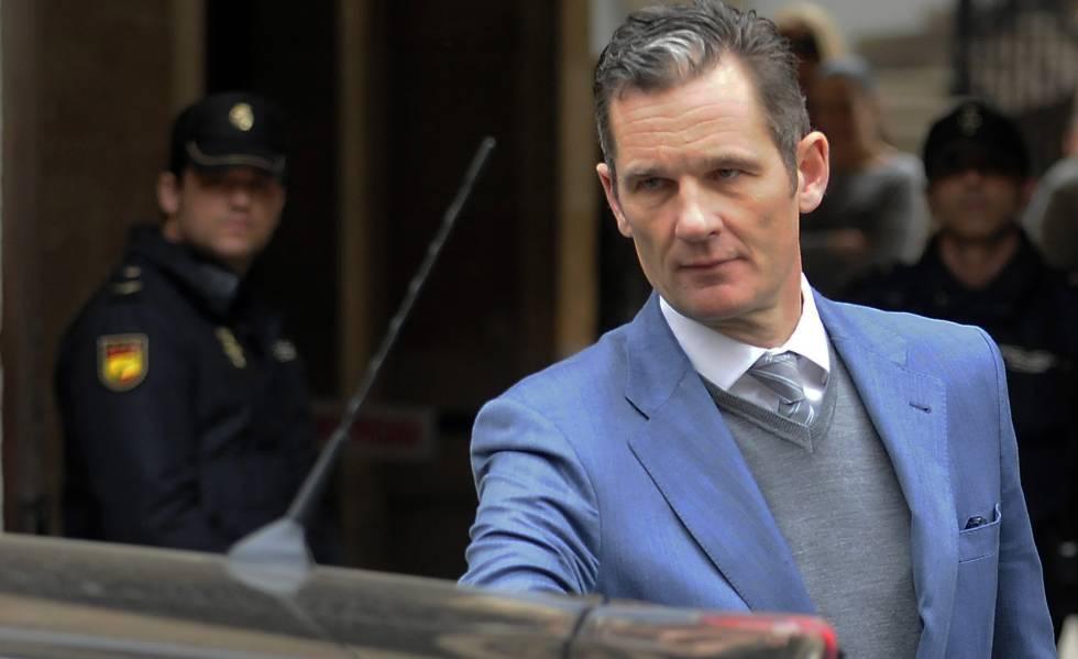 Iñaki Urdangarin, a la salida de un juzgado de Palma.