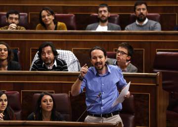 Where is the leader of Spain's far-left Podemos party?