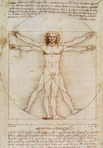'La divina proporción' (conocido también como el 'Hombre de Vitruvio'), de Leonardo da Vinci.