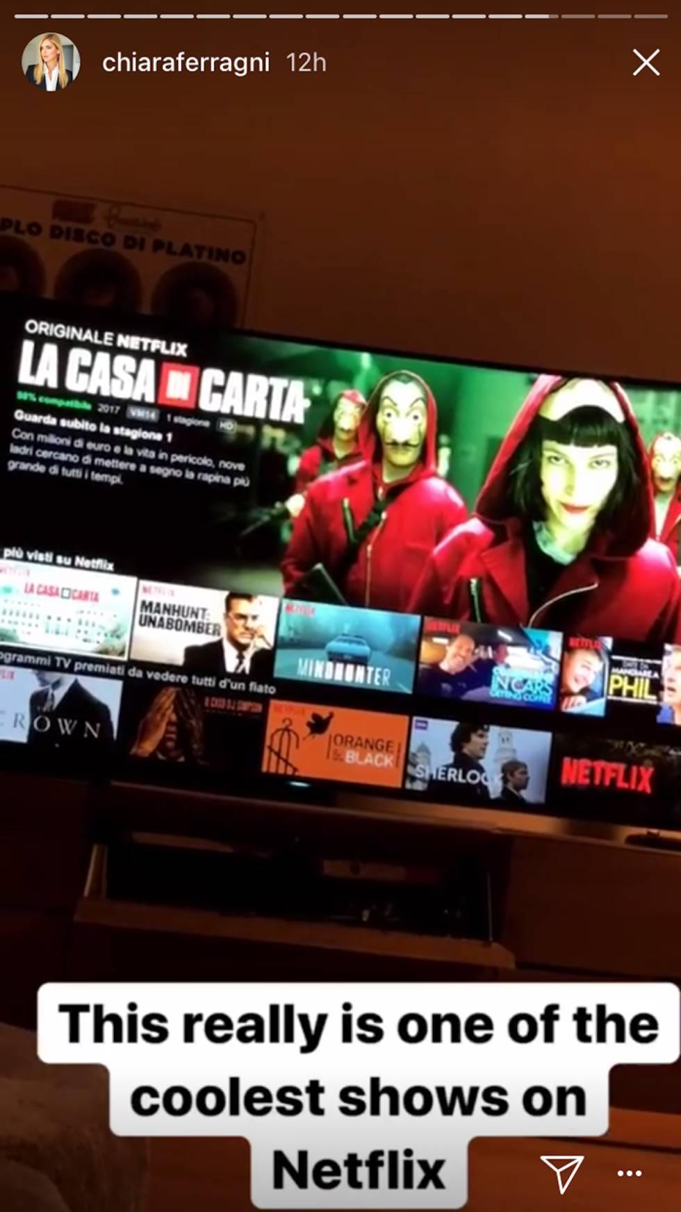 La serie favorita de Chiara Ferragni es española
