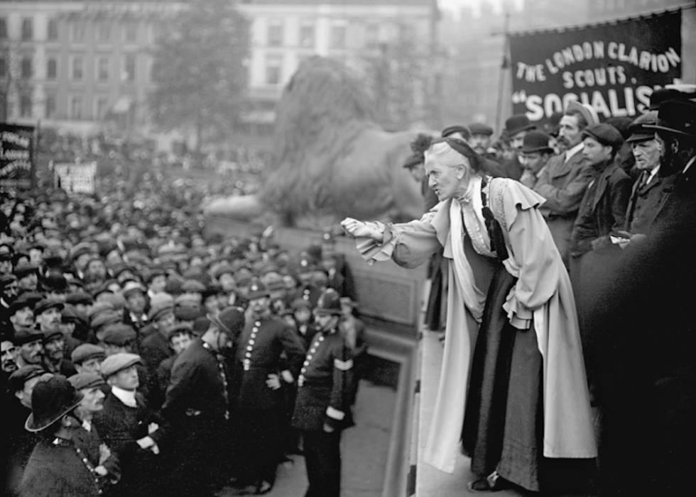Charlotte Despard, líder pacifista y feminista contra la I Guerra Mundial.