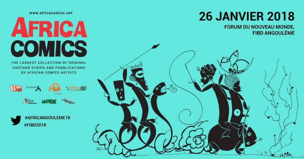Cartel de promoción de Africacomics.